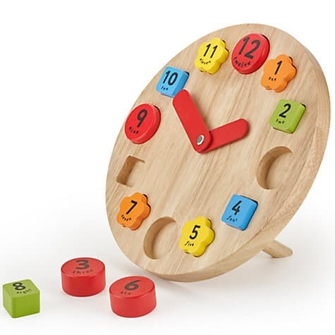 Wooden Teaching Clock Toy