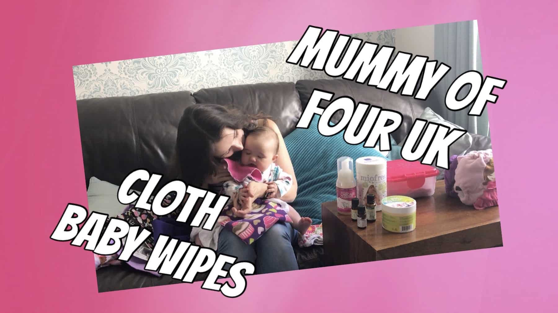 Cloth Baby Wipes - Mummy Of Four - Cloth Nappy Series