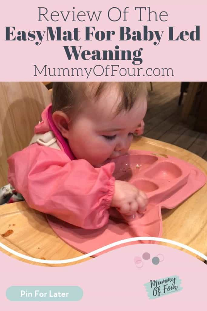 Review Of The EasyMat for Baby Led Weaning