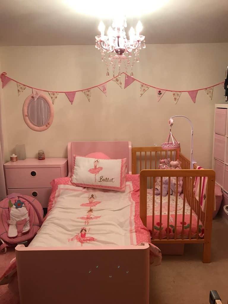 Baby girl's pink nursery
