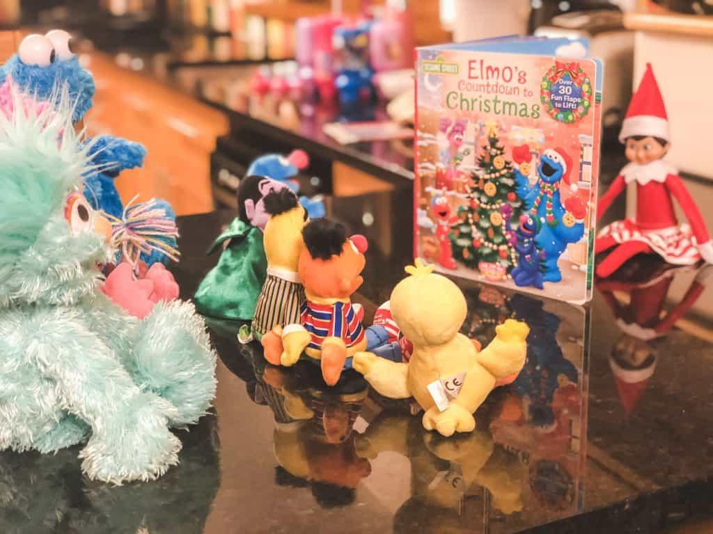 Elf on the shelf idea - reading to toys